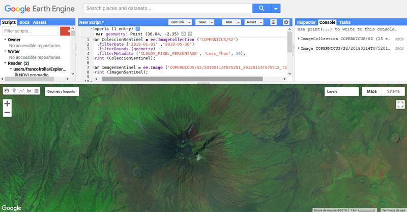Tutorial para visualizar imágenes en Google Earth Engine