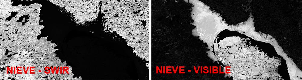 Interpretación de imágenes a falso color para masas de agua
