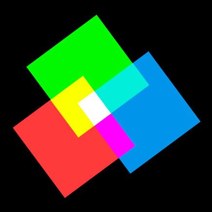 Paleta de composición RGB de colores