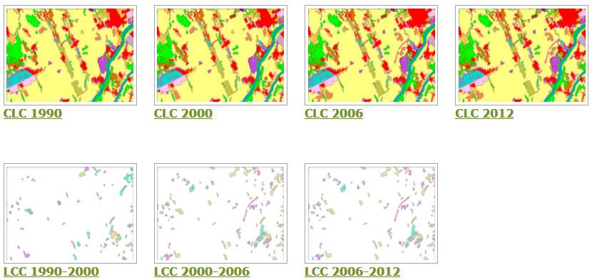 Descargar cartografía de usos del suelo CLC
