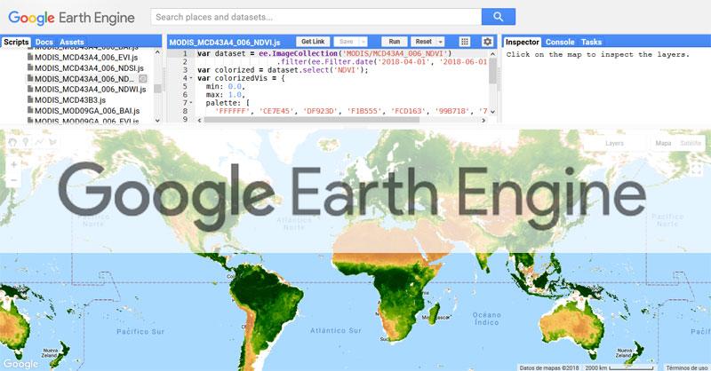 Descargar imágenes de Google Earth Engine