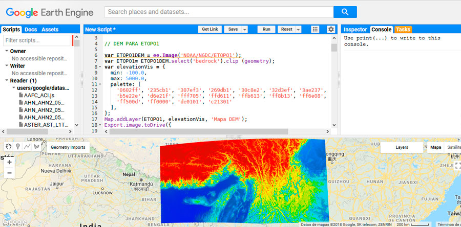 Script Google Earth Engine