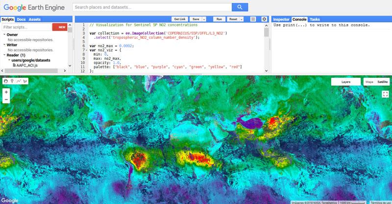 Descarga de datos atmosféricos con Google Earth Engine