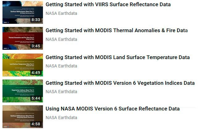 Tutoriales y Webinar NASA