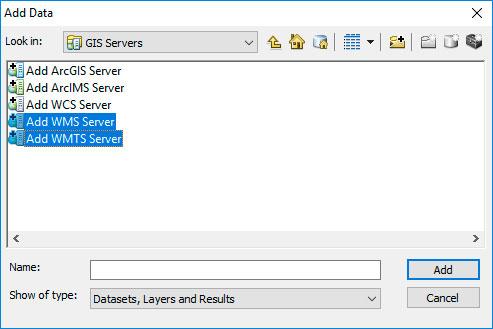 Conexión de servidores WMS en ArcGIS