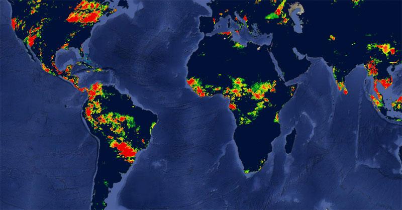 Descarga de datos de precipitación mundial diarios