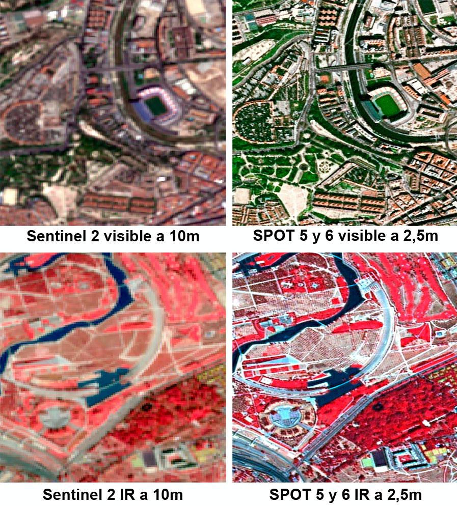 Descarga de imágenes satelitales SPOT gratuitas