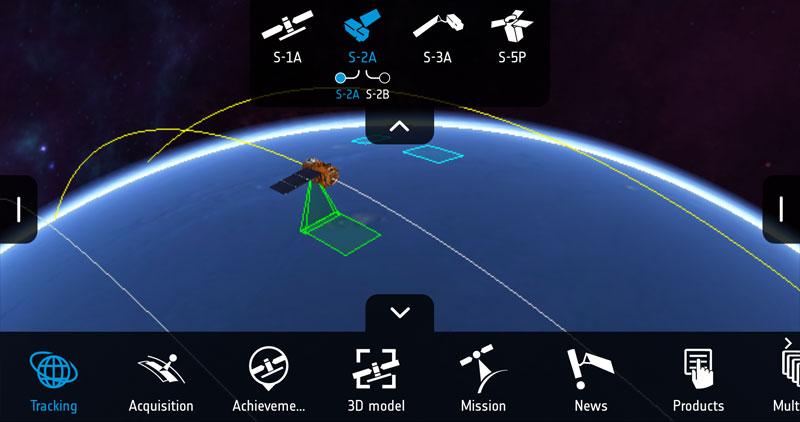 App móvil de mapeo de imágenes Sentinel