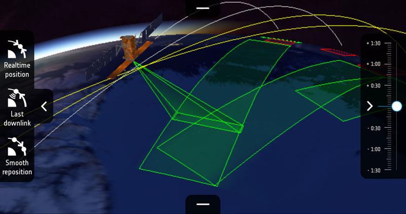 Momentos temporales de mapeo del satélite Sentinel