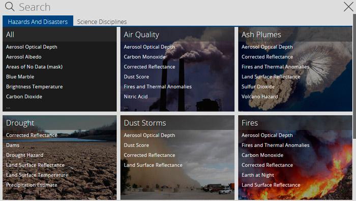 Cartografía mundial de incendios en tiempo real