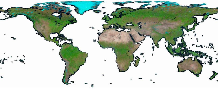 Imágenes Landsat con servidores WMS