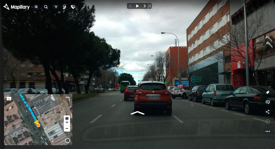 Callejero de imágenes de Mapillary
