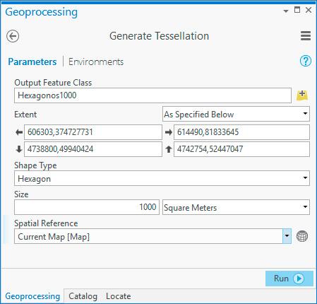 Cómo generar mallas hexagonales en ArcGIS Pro
