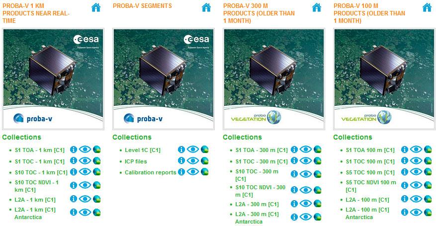 Imágenes satélite de PROBA-V