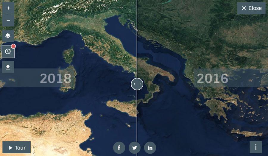 Comparador de imágenes satélite