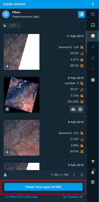 Secuencia animada de imágenes satélite Time Lapse