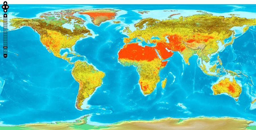 Descarga datos mundiales de albedo