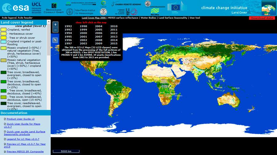 Descarga de mapas de usos del suelo