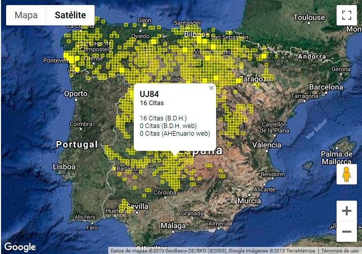 Cartografía de distribución de anfibios y reptiles SIARE