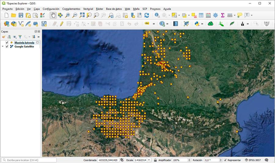 Mapa y cartografía de especies mundiales