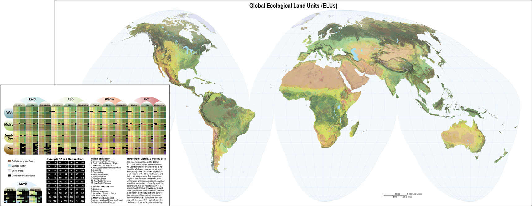 Mapa de unidades ecológicas del mundo