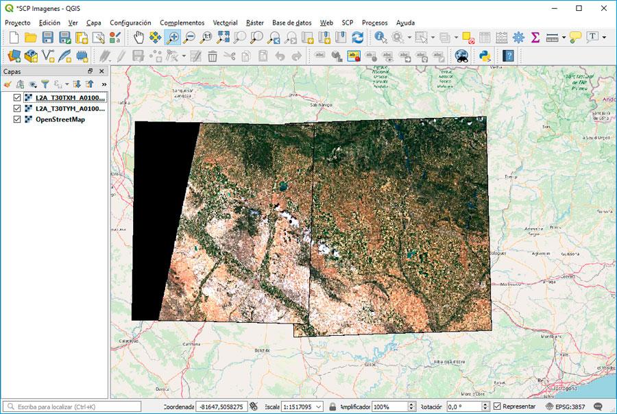 Como ver Imagenes aéreas en QGIS