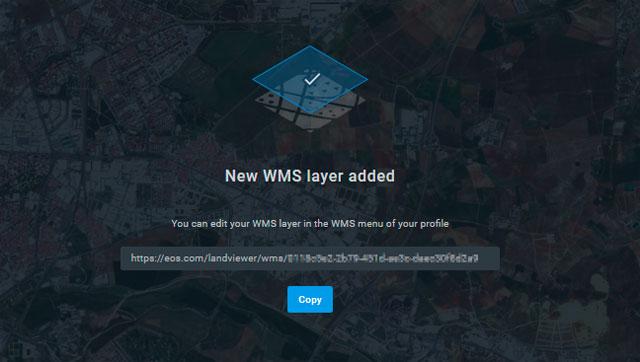 URL de servicios WMS para imágenes satélite