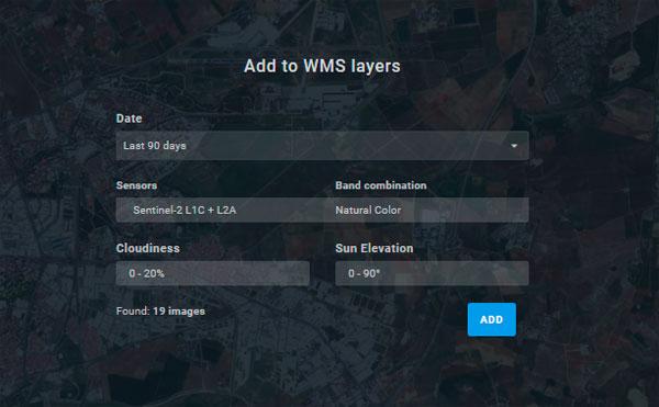 Visualización de imágenes satélite por WMS con Land Viewer
