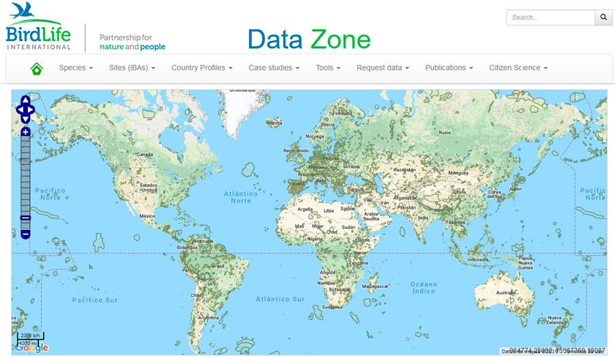Descargar cartografía de IBA para aves