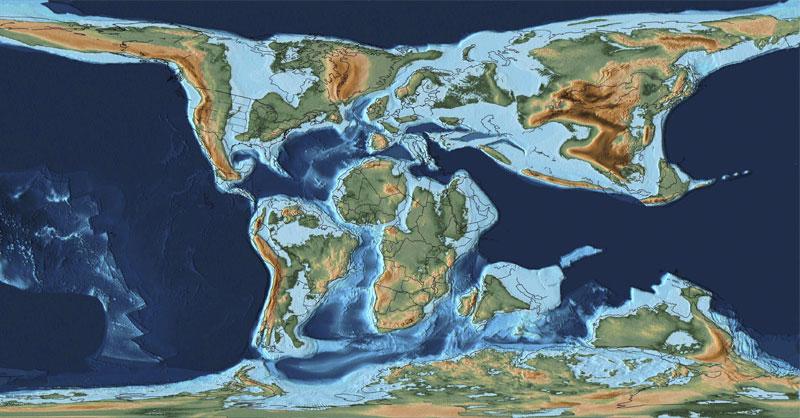 PaleoMAPS: la cartografía de Pangea en DEM