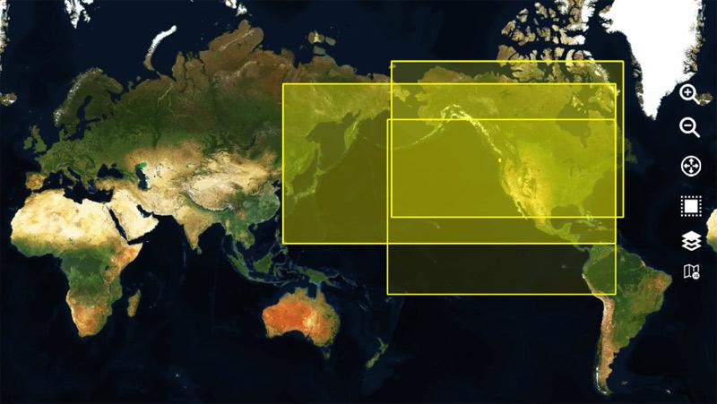 Zonas territoriales de descarga de cartografía satélital
