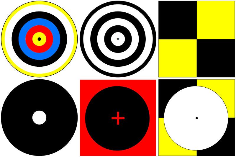 Ejemplos de dianas de puntos de control GCP