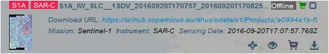 Descargar imágenes Sentinel offline desde Copernicus