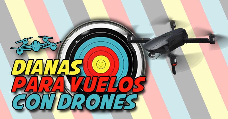 Puntos de control para drones y plantillas de dianas