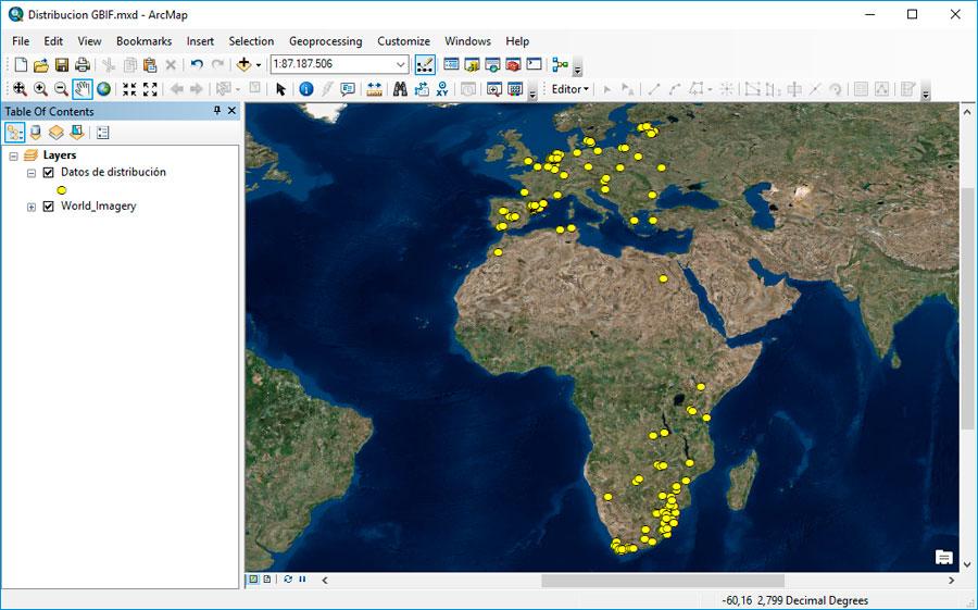 Descargar mapas de especies amenazadas a nivel mundial