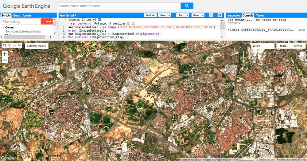 Imágenes Sentinel 2 nivel 2A en Google Earth Engine