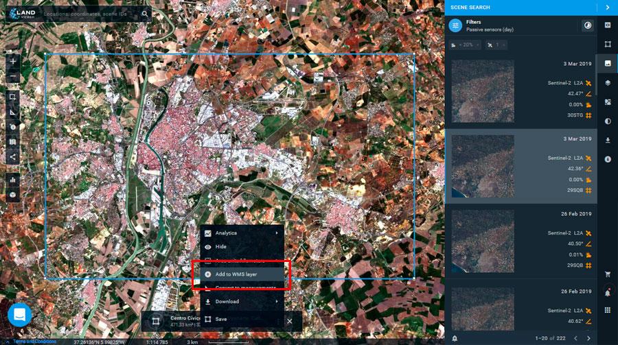 Imágenes satélite con WMS