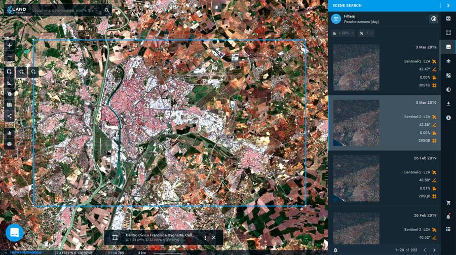 Visualización de imágenes satélite por WMS