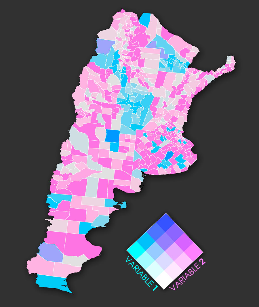 Mapa bivariable