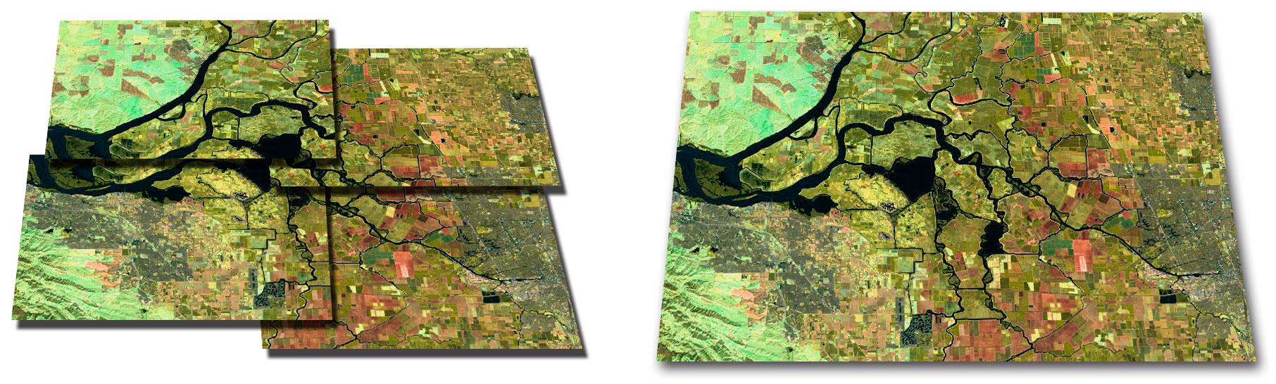 Cómo unir imágenes satélite