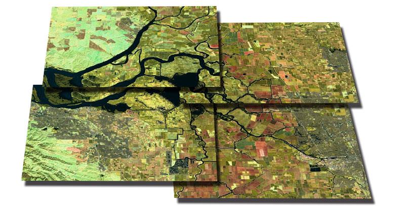 Cómo unir imágenes satélite en un solo mosaico