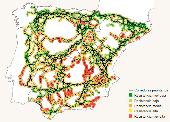 Cartografía de corredores ecológicos