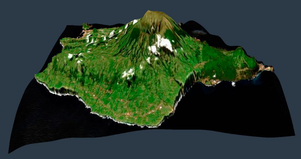 Visualización de imágenes satélite en 3D en Land Viewer