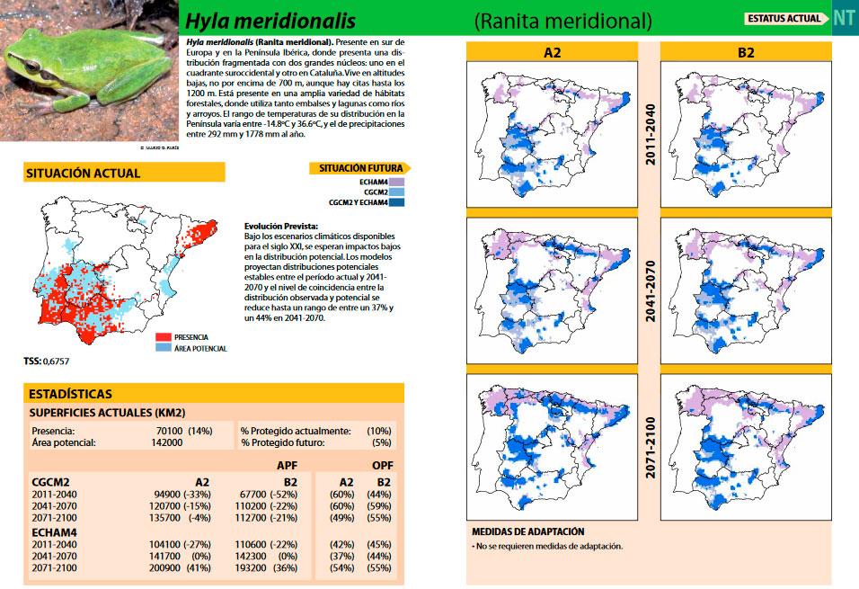 Cartografía de biodiversidad frente al cambio climático