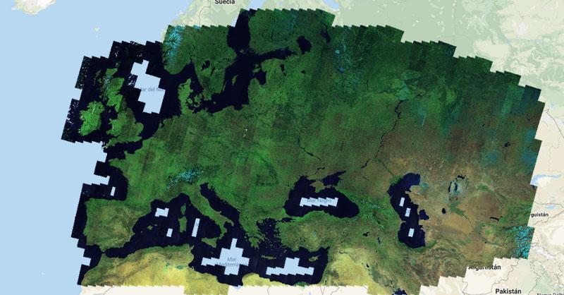 Cómo generar imágenes satélite sin nubes
