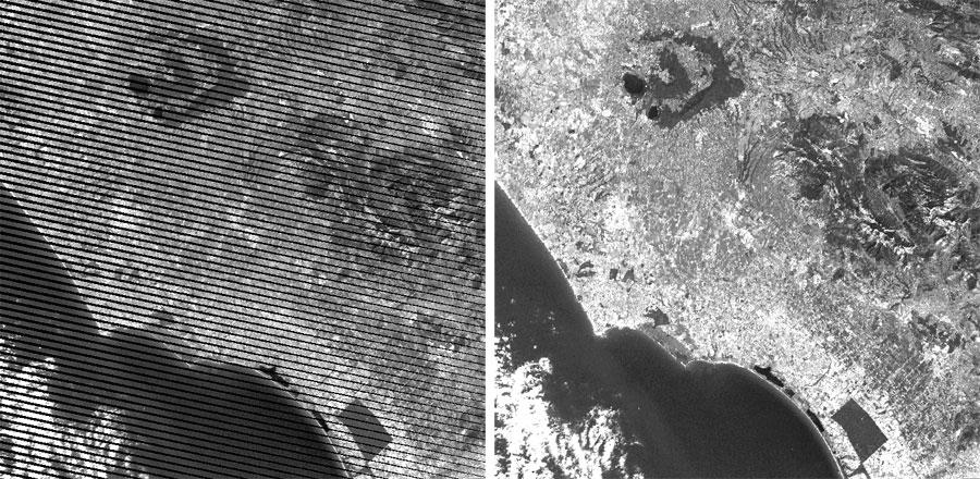 Bandeado de imágenes Landsat