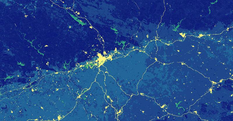 Mapa de aptitud territorial en la creación de corredores ecológicos