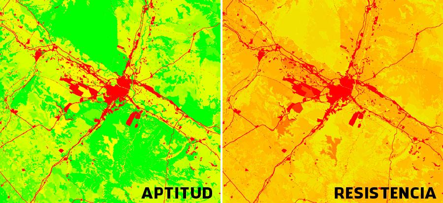 Mapa de aptitud y fricción territorial