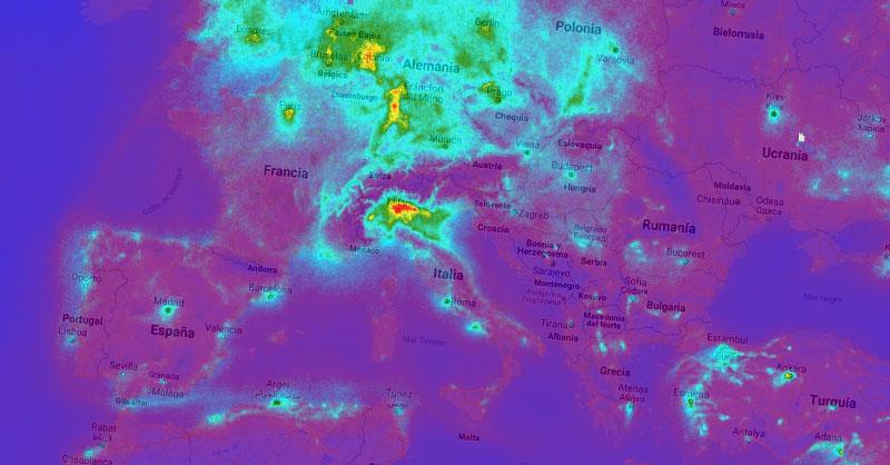 Webinar de monitoreo atmosférico de NO2 con TROPOMI