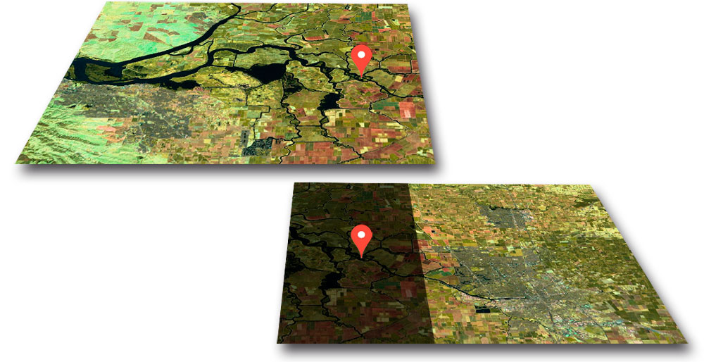 Como unir imágenes satelite en GIS